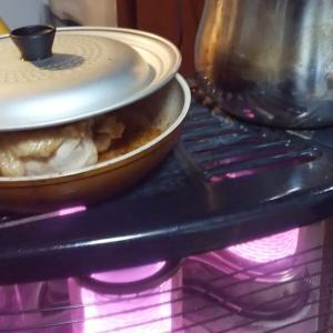 冬はストーブ調理