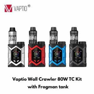 【スターターキット レビュー】Vaptio Wall Crawler 80W TC Kit Wlth Frogman tank