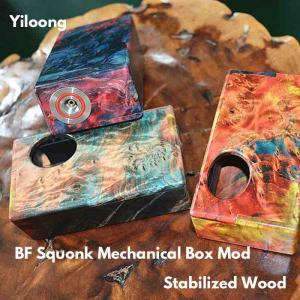 【MOD レビュー】Yiloong BF Squonk Mechanical Box Mod -  Stabilized Wood