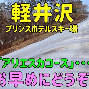 軽井沢プリンスホテルスキー場「アリエスカコース」お早めにどうぞ。