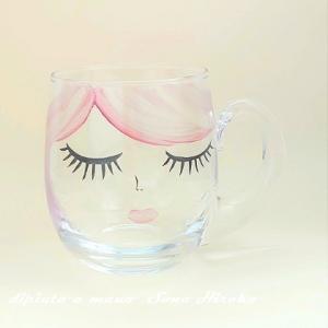 ガラスのマグカップ☆
