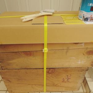りんご木箱をDIYしてプランターへ‼️