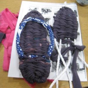 PPロープで作る布草履と今日はゴールドラッシュの日