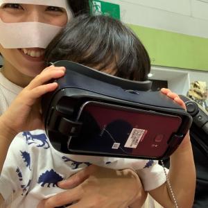 VRにハマる4歳児.