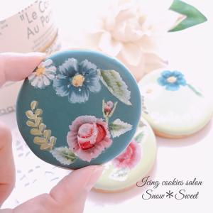 ボタニカルフラワーが可愛い♡トールペイント封筒なクッキー