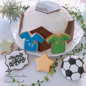 三男くんのお誕生日♡サッカー部なのでサッカーづくしでお祝い