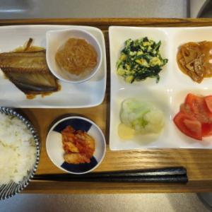 焼魚(ホッケ)主菜の朝ごはん