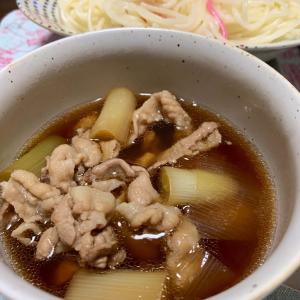 【クイックメニュー】つけ麺 豚肉とネギのつけ汁