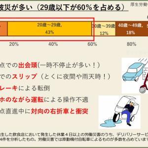 デリバリーサービスにおける交通労働災害防止