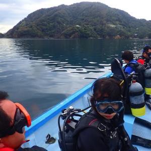 田子でボートダイビング