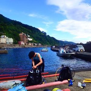 伊豆北川カジカキでボートダイビング