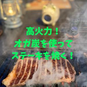 バーベキューに便利なオガ炭と破壊力のある網を使って美味しい肉を焼く!