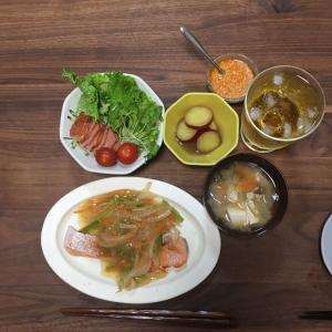 鮭の柚子胡椒野菜あんかけと室温