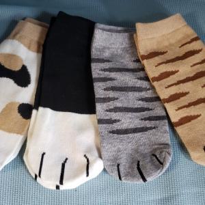 可愛い猫足靴下