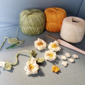 ラリエット編み編み