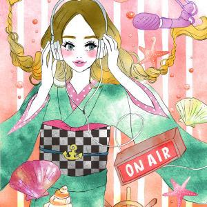 【初夏アート】FM79.7MHz 京都三条ラジオカフェ様4-6月のメインビジュアル