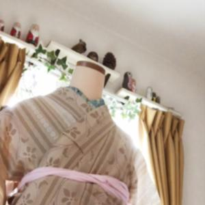 【ZOOMでオンラインレッスン】他装、人に着付けを習得。着物と長襦袢
