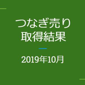 2019年10月つなぎ売りの結果(株主優待クロス取引)