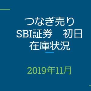2019年11月つなぎ売り、SBI証券初日在庫状況&クロス状況(優待クロス)