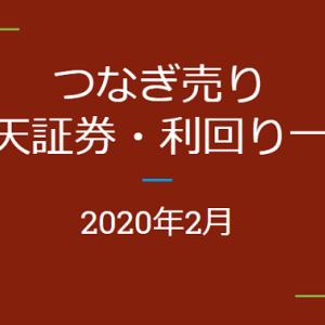 2020年2月つなぎ売り、SBI証券の株主優待利回り一覧【クロス取引】
