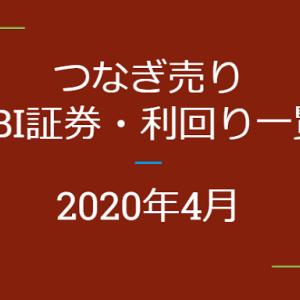 2020年4月つなぎ売り、SBI証券の株主優待利回り一覧【クロス取引】