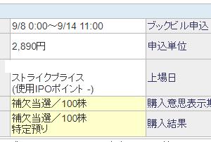 【IPO】I-neが100株繰り上がり当選!