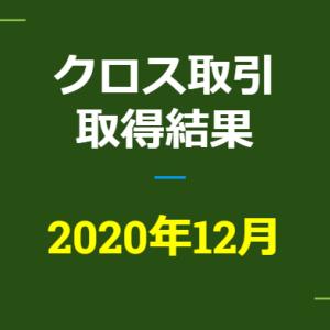 2020年12月つなぎ売り、取得結果【優待クロス取引】