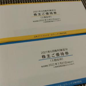 【6月、12月優待】マクドナルドから自社食事券の株主優待が到着!