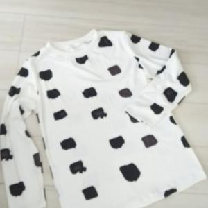 牛柄だから、パジャマかな
