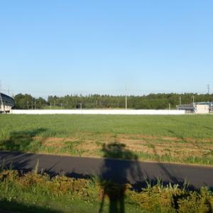 TX車窓から(仮称)研究学園小学校・中学校の建設状況が良くわかる!