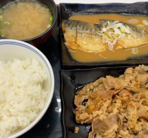 吉野家 牛皿・鯖みそ定食 夜食タイムはご飯おかわり無料
