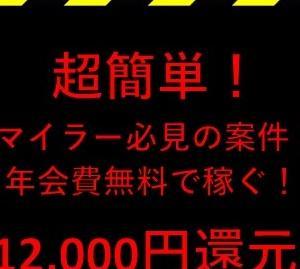 【緊急速報】新しい無料カードがスゴイ還元のキャンペーン( ゚Д゚)フェ~!!