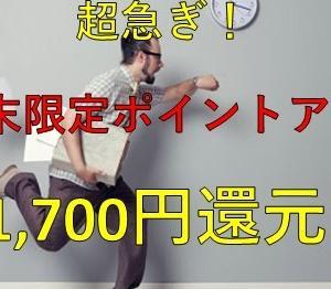 【超急ぎ!】週末限定の11,700円還元のビッグチャンス!期間限定のポイ活案件を見逃さないでください!さらに当ブログ限定で+αもご用意しました!!