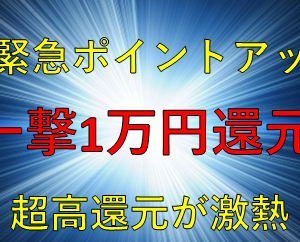 【3連休スペシャル】一撃10,000円還元に緊急ポイントアップ!マイルが貯まる超人気カードが過去最大級のお得になっています!!!