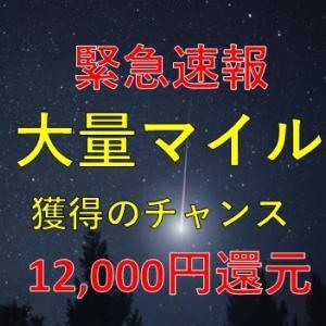 【緊急速報】一撃12,000円還元がすごい!陸マイラー待望のポイントアップはこれで決まり!