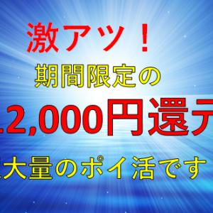 【緊急速報】滅多にポイントアップしないカードが12,000円還元に!陸マイラー期待の緊急ポイントアップが激アツ!!