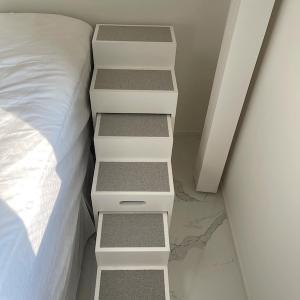 ビジュの専用階段を作ってもらいました。