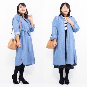 【ユニクロ】一目惚れ♡ぽっちゃりも楽に着られる♪デニムワンピでコーデ!