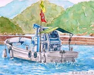 出港する漁船(日生の頭島漁港)