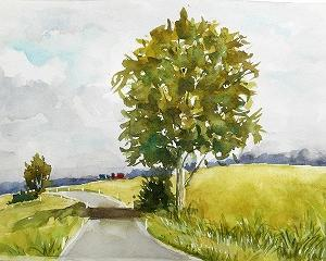 富良野の風景を描く(NARAさんのオンライン)