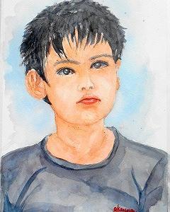 兄弟の弟をバストサイズで描く(済生会カルチャー)