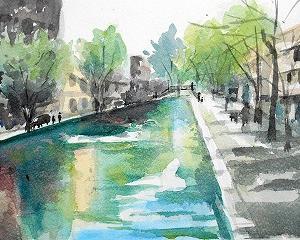 サンマルタン運河(フランスのパリ)