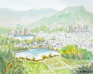 甘樫の丘を描く(奈良)