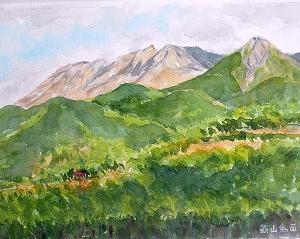 初夏の蒜山、鬼面台より大山を望む