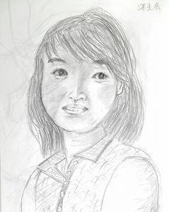 モデルNさんの顔を描く(済生会カルチャー)