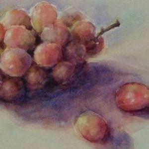 葡萄を描く☆