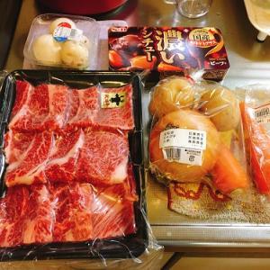 妻が懸賞で当てた牛肉でビーフシチューを作りながら、ロッテ戦やアタック25を。