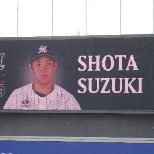 【千葉ロッテ】ルーキー・鈴木昭汰投手、プロ初勝利おめでとうございます。