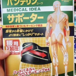 腰痛対策のコルセットとか、喪中はがき用の年賀状用ソフトを買った話。