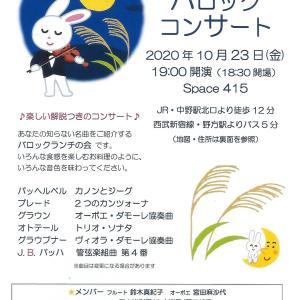 【キバナコスモス】と【今日のコンサート】19:00〜中野